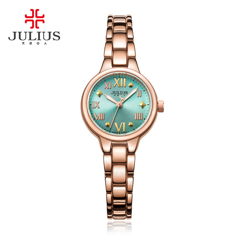 New Women's Watch Japan Mov't Hours Clock Fine Fashion Dress Chain Bracelet Rome Numbers Girl Christmas Gift Julius Box real functions men s watch isa mov t hours clock fine fashion dress stainless steel bracelet boy s birthday gift julius