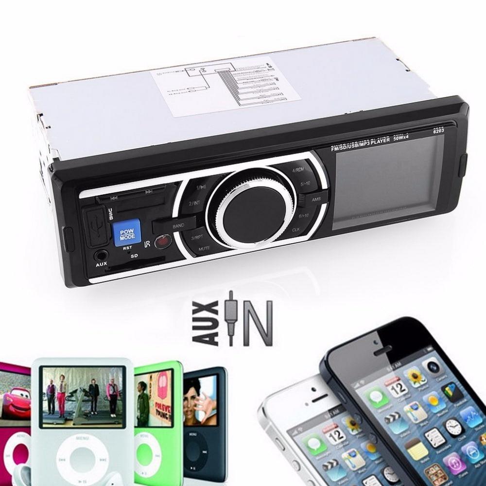 Nueva 12 V Car Stereo Radio FM Reproductor de Audio MP3 con USB/para SD MMC Puer