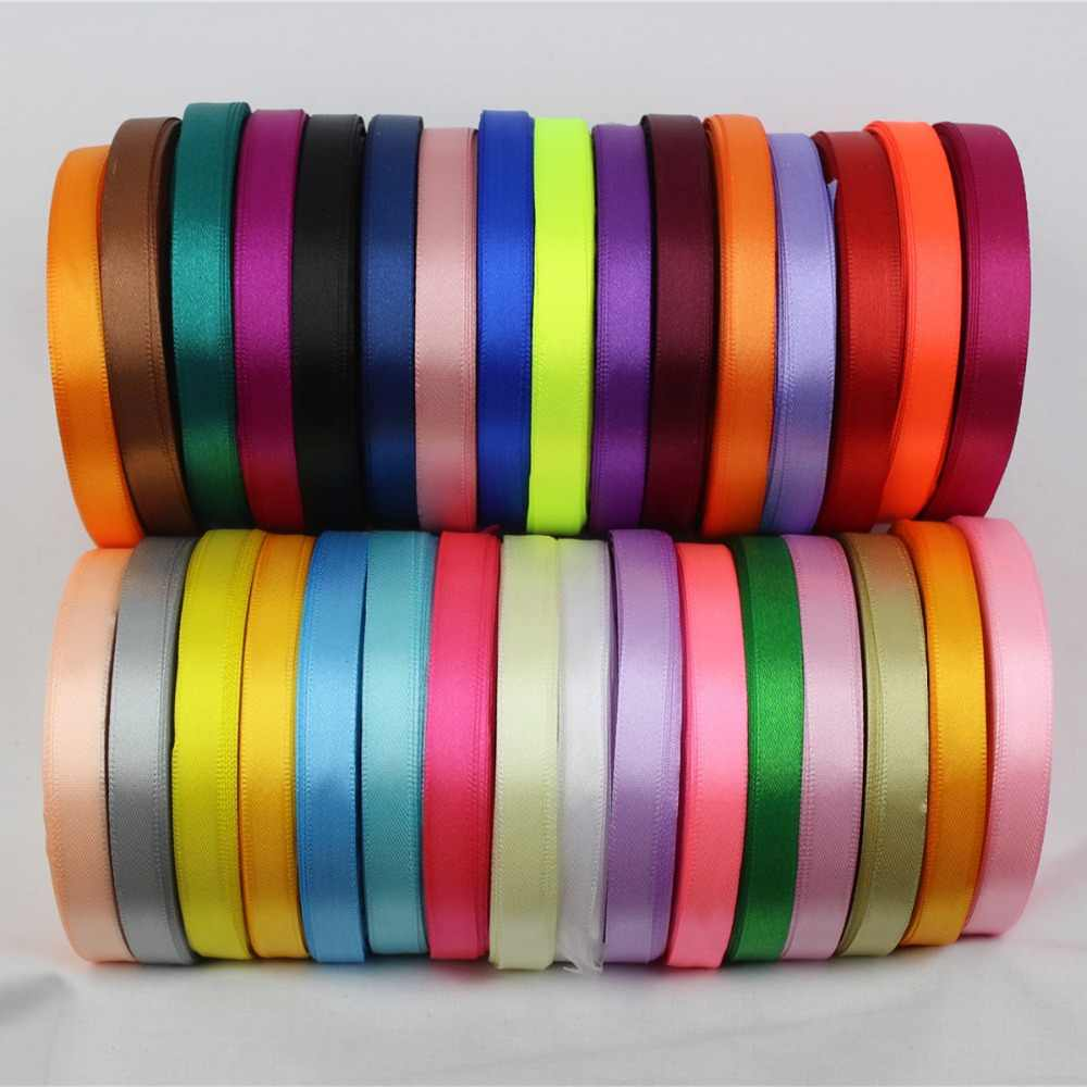 25 Yards Silk Satin Ribbon Wedding Party Decor Wrap Christmas Apparel Sewing SK