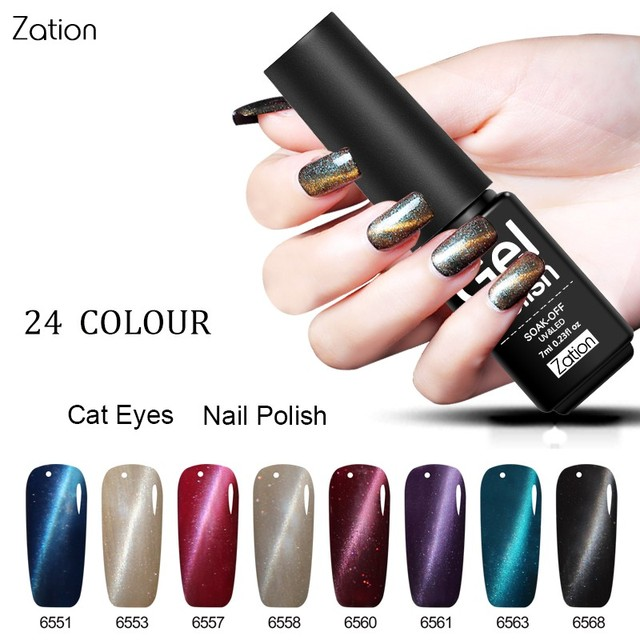 Zation Magnetic Bling Gel Polish Nail Polish Magnet Nail Gel Glitter ...