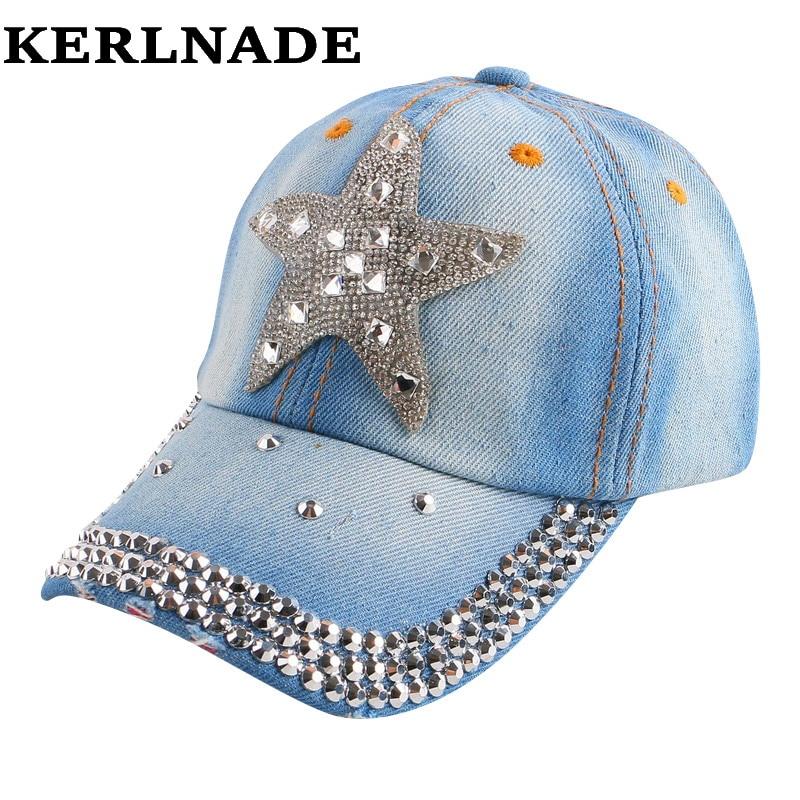 2016 nueva moda simple en forma de estrella clear rhinestone Crystal verano  SnapBack sombrero para niños niño chica niños belleza gorras de béisbol c81a71cc84a
