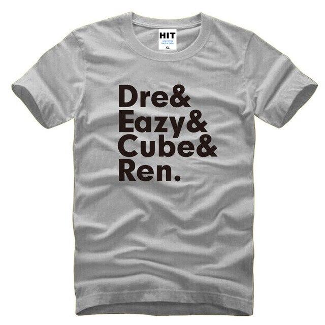 NWA N.W.A. члены Eazy-E Для Детей Dre Напечатанная Письмом мужская Футболка Мужская рубашка 2016 Новый O Шеи Хлопок Повседневная Топ тройник