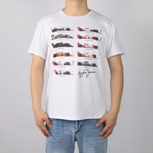 Alle F1 Ayrton Senna Sennacars t-shirt Top Lycra Baumwolle Männer T-shirt Neue Entwurfsqualität Digitalen Inkjet-druck