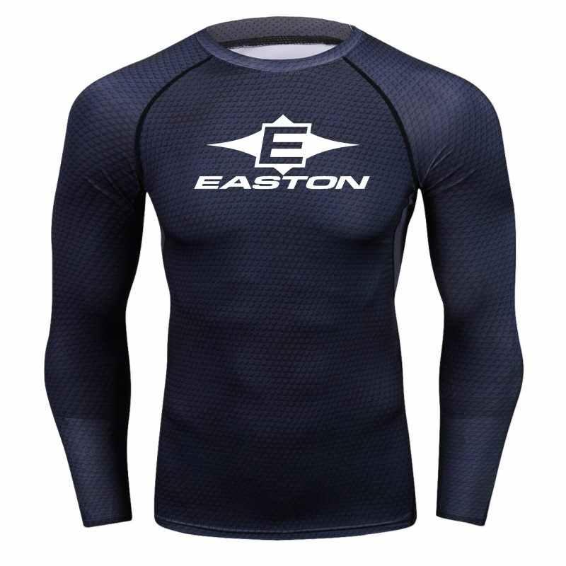 Истон Для мужчин змея компрессионная рубашка для фитнеса футболка с длинными рукавами футболка Для мужчин мужская футболка с рисунком с Лидеры брендов футболка