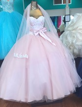 Bealegantom 2019 Pink Quinceanera Dresses Ball Gown Crystals Embroidery Lace Up Vestido De Debutante Sweet 16 Party Dress QA1462