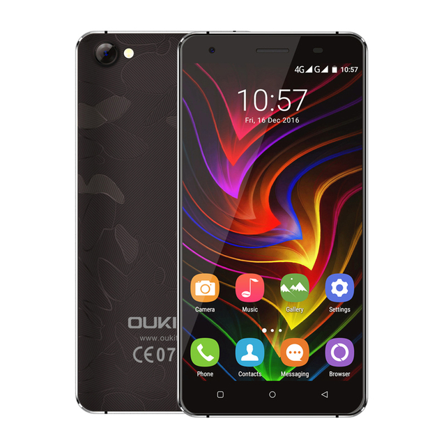 Original Oukitel C5 MTK6580 Quad Core 2G RAM 16G ROM Mobile Phone 5.0 Inch HD Android 6.0 Cellphone 2000mAh Battery Smartphone