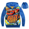 Newest Blaze Monster Machines Hoodies Sweatshirts Boys/Girls Terry Cotton Topwear Kids Outerwear Children's long sleeve sweater