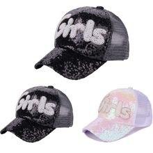 Feitong mujeres hombres carta ajustable Denim Rhinestone malla de béisbol  del sombrero del casquillo casquette hip 717ddad2100