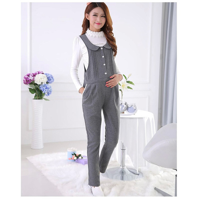 Happy Easter Gift for Mom Spring&Autumn Maternity Overalls Belly Pants Waist Adjustable Suspender Trousers For Pregnant Women