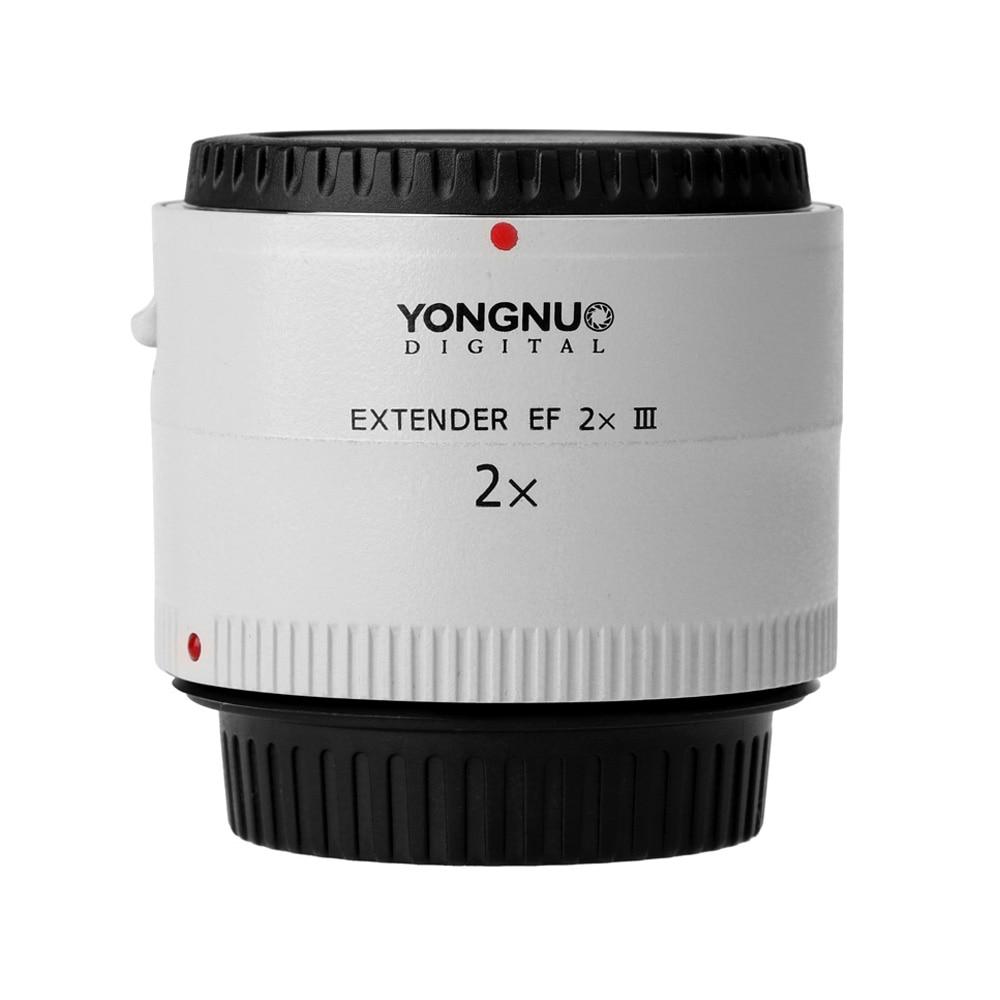 Yongnuo YN-2.0X III PRO 2x téléconvertisseur Extender Auto Focus monture objectif caméra objectif pour Canon EOS EF objectif sans sac d'objectif