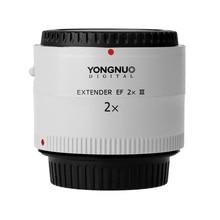 Yongnuo YN 2.0X iii pro 2x teleconverter extensor foco automático montagem lente da câmera lente para canon eos ef lente saco de lente livre