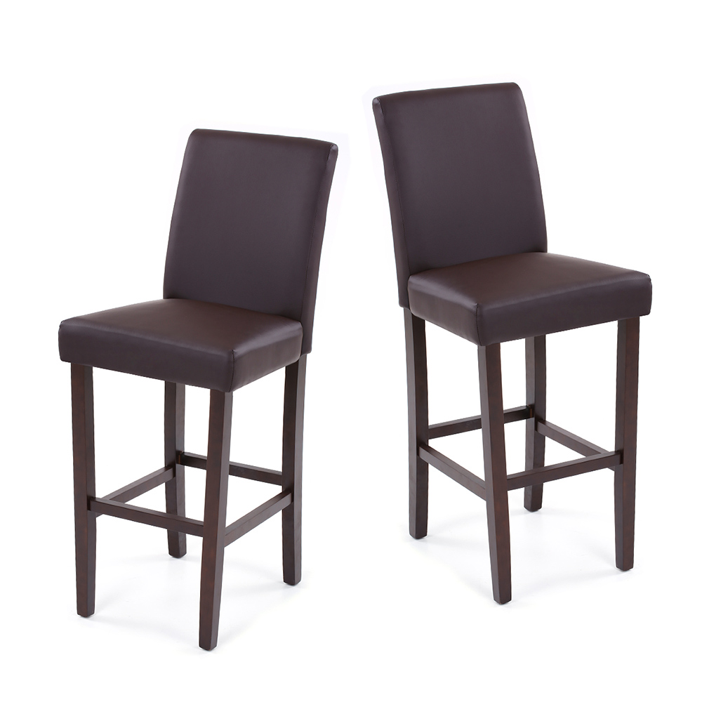 Brilliant Us 116 26 25 Off Ikayaa Us Stock Pu Leather Bar Pub Dining Chairs Wood Frame Padded Kitchen Side Parson Chair Stools Restaurant Furniture In Evergreenethics Interior Chair Design Evergreenethicsorg