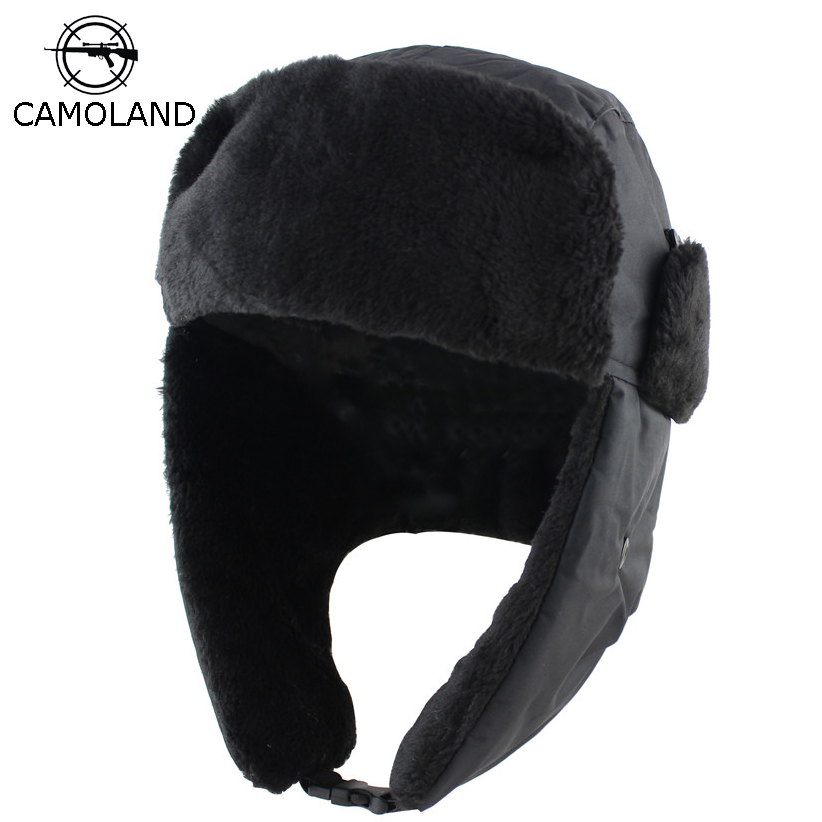 2018 Men Women Winter Hat With Ears Earflap Bomber Hats Ushanka Caps Russian Trapper Hat Male Trooper Snow Ski Hat Hunting Cap
