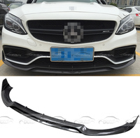 C63 Only Real Carbon Fiber Bumper Front Splitter For Mercedes Benz W205 C63 AMG Sedan For Brabus Style Front Lip 2015 2016
