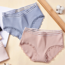 High Quality Womens Cotton Panties Seamless Lace Underwear Women Breathable Ropa Interior Femenina Pink