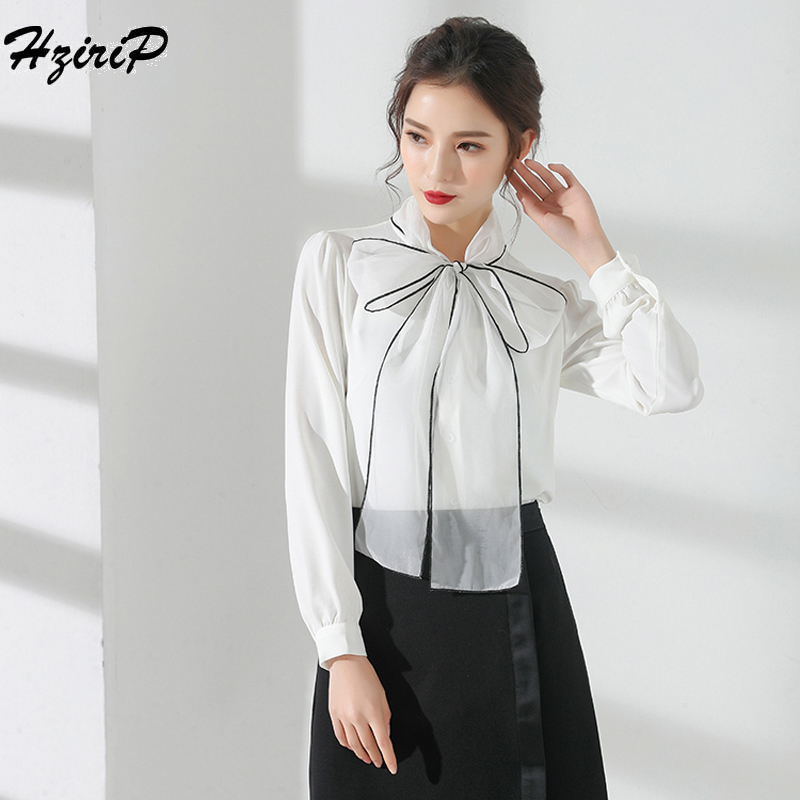 Whitney Wang 2019 Spring Autumn Fashion Streetwear Ribbons Bandage Blouse Women Blusas Shirt Tops Back To Search Resultswomen's Clothing