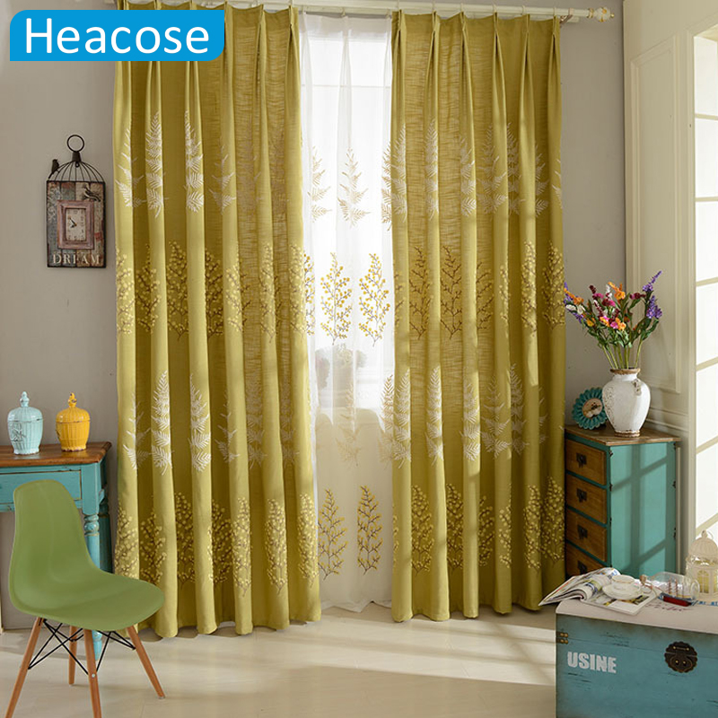 3M high-end embroidered cotton window curtain bedroom living room curtains blackout Milan <font><b>city</b></font> cloth voile curtains