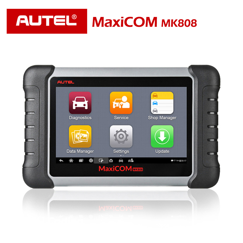 Autel Original MaxiCOM MK808 Diagnostic Tool 7 inch LCD Touch Screen Swift Diagnosis Functions of EPB/IMMO/DPF/SAS/TMPS and More-in Engine Analyzer from Automobiles & Motorcycles