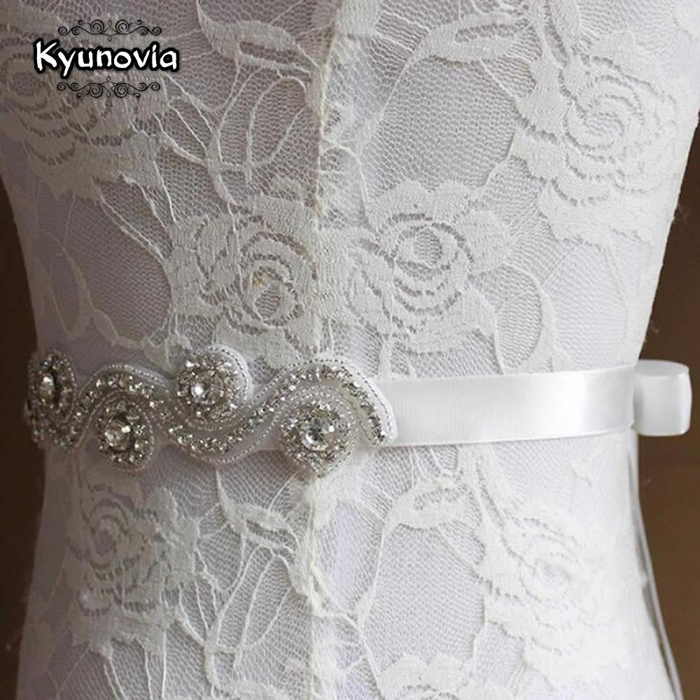 Kyunovia Kristall Hochzeit Gürtel Sash Braut Strass Schärpe ...