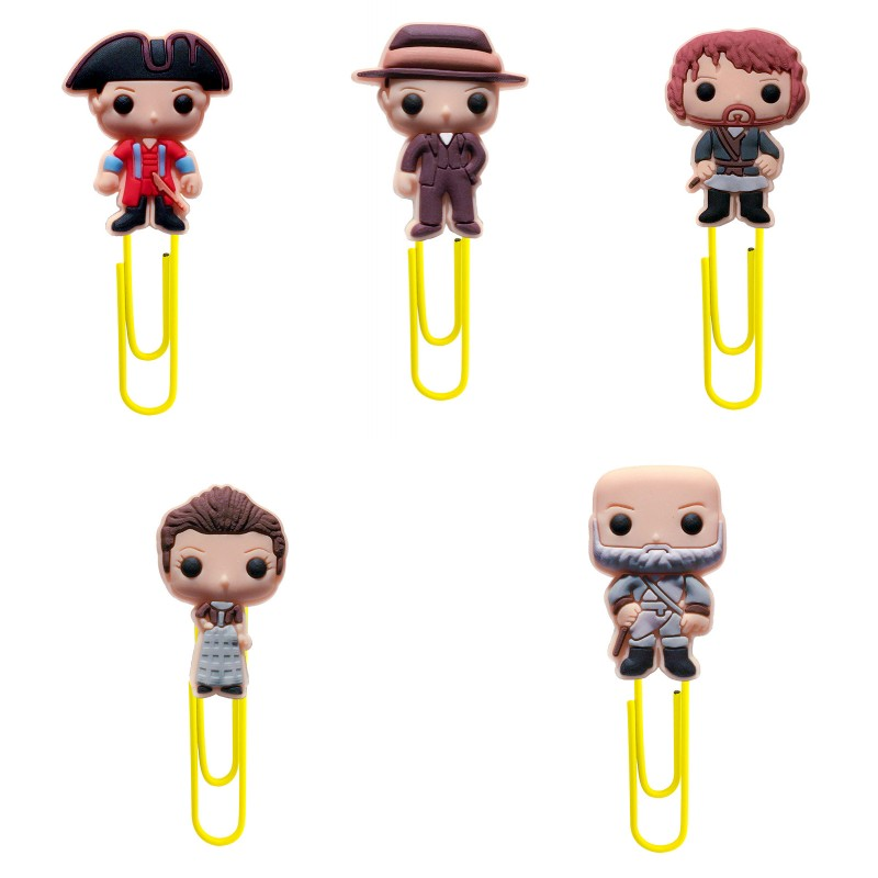 8Pcs Cartoon OUTLANDER Bookmarks For Books Paper Clip Book Souvenir Decoration Pen Accessories Teacher Gift Stationery Items