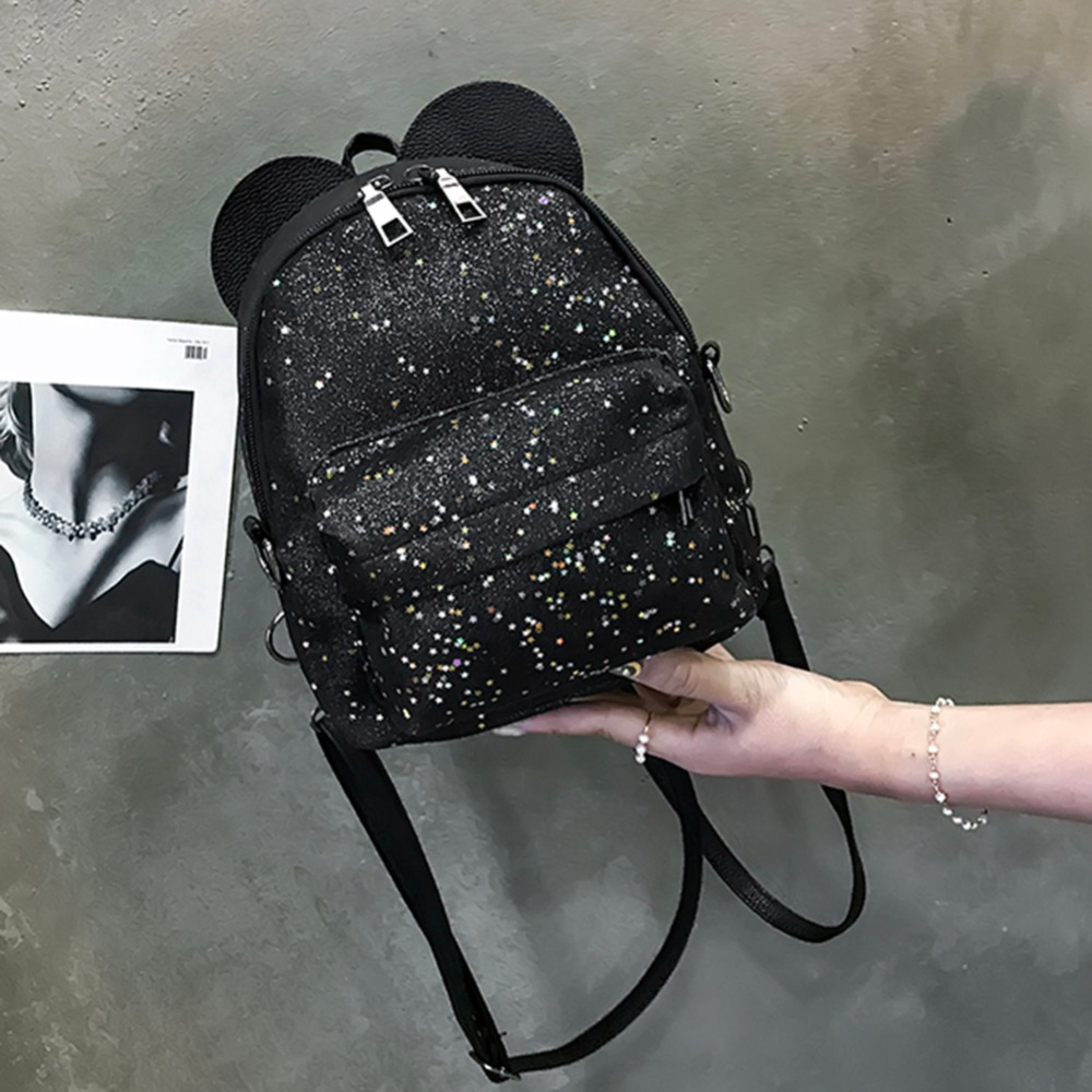 ... Fashion Female Backpack. . Shining Sequins Women Cute Small Backpacks  PU Leather School Bags Girls Princess Shoulder Bag 2018 New. sku   32867262988 09c3fd28593f2