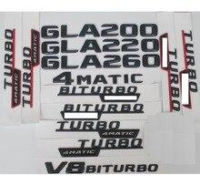 3D Matt Black Trunk Letters Badge Emblem Emblems Badges Sticker for Mercedes Benz GLA200 GLA220 GLA250 V8 BITURBO AMG 4MATIC
