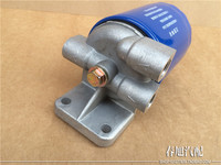 Automobile Engine Diesel Fuel Filter Assembly For CX0708 CX0710 3 Holes Diesel Filter Assembly