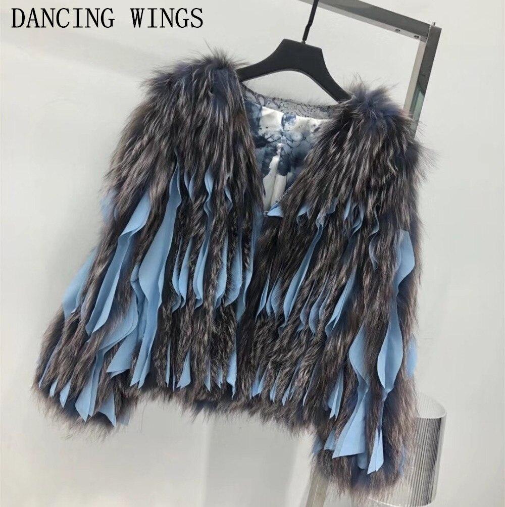 Nuovo inverno Donne Reale Silver Fox Cappotti di Pelliccia Casual Girocollo Corta Giacca di Pelliccia Genuino Femminile