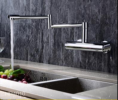 new arrival top high quality brass wall mounted  hot and cold foldable Sink Chrome Single Lever  Basin Mixer kitchen faucet pastoralism and agriculture pennar basin india