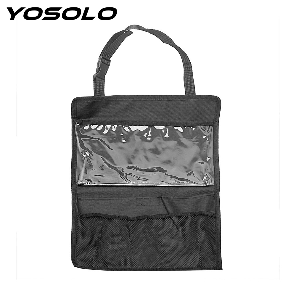 YOSOLO Car Back Seat Organizer Universal Interior Accessories Tablet PC Stand iPad Holder Storage Bag Stowing Tidying
