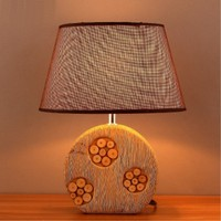 Europe Modern Creative Concise Ceramics Table Light Bedroom Livingroom Decoration Lamp Free Shipping