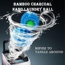 Бамбук древесный уголь Нано Прачечная шарики для стирки посвященный мяч очистки мяч Премиум Органический Шары Сушилка резиновая насадка для душа# X