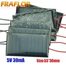 10Pcs/Lot Mini Solar Panel 5V 30mA Solar Cells Photovoltaic Panels Module Sun Power Battery Charger For DIY Study Toy Charger