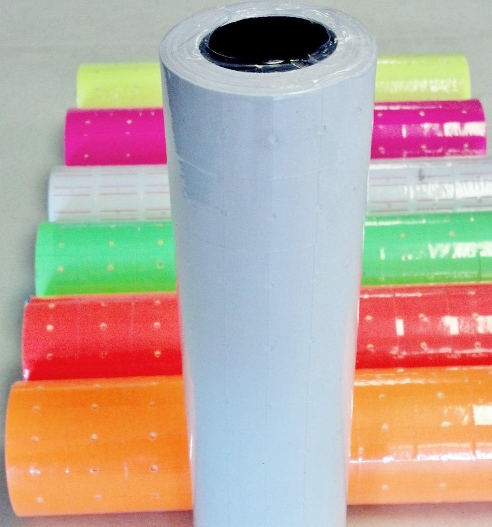 10 Rolls 5000 Tags ORANGE labels for Motex MX-5500 L5500 Mx989 Price Gun