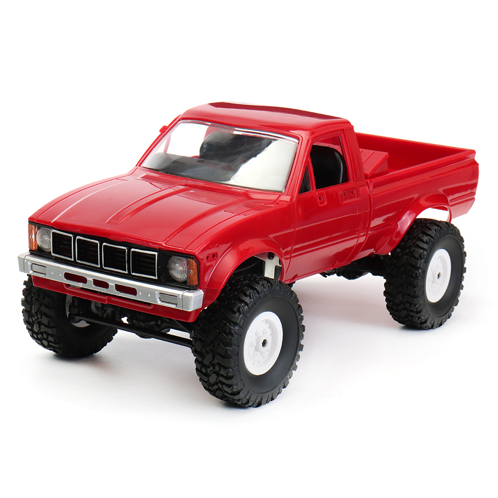 купить WPL C-24 1/16 4WD 2.4G Military Truck Buggy Crawler Off Road RC Car 2CH RTR Toy Kit Without Electric Parts DIY RC Model Blue Red по цене 2856.57 рублей