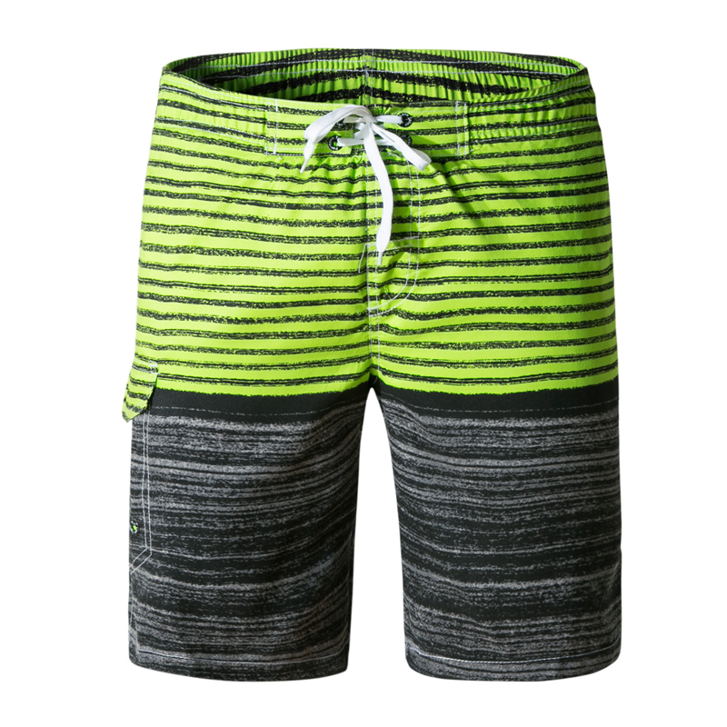2018 Summer New Fashion Mens Beach   Shorts     Board     Shorts   Swimsuit Quick Dry Silver Boardshorts