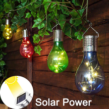 Solar Light Bulb Waterproof Outdoor Solar Garden Light Camping Hanging Globe LED Lamp Home Christmas Party Holiday Decoration