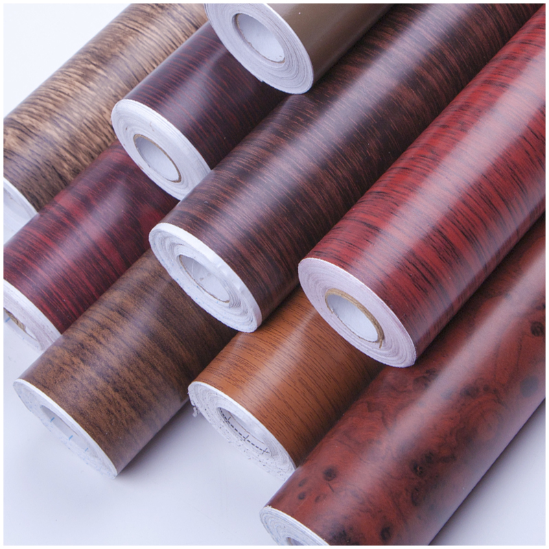 Thicker wood grain waterproof self-adhesive wallpapers bedroom wall paper stickers furniture renovation college students bedroom self adhesive waterproof pvc wallpapers roll morden wall paper bedroom living room furniture renovation sticker home decor