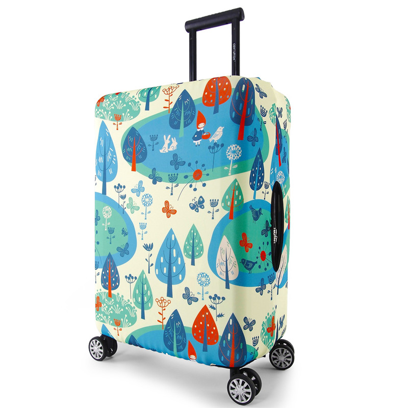 Thick Elastic Children's Luggage Protective Cover Fashion Cartoon Trolley case dust Cover Travel Suitcase Accessories Supplies