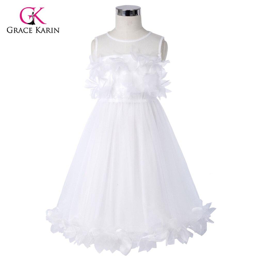 Grace Karin   Flower     Girl     Dresses   For Weddings Party Tulle Pageant   Dresses   Formal Kids Prom Graduation Gowns Children Sleeveless