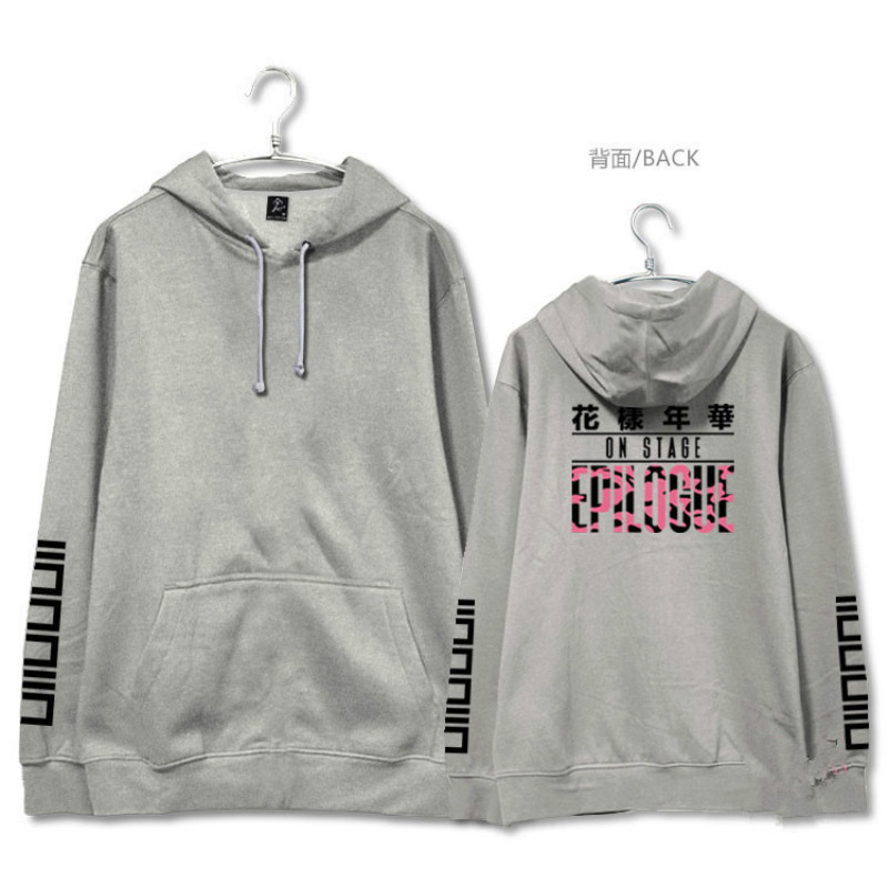 BTS autumn winter coat men women Cotton Fleece Sweatshirt KPOP Korean version black White gray Letter printing Hoodies Lovers