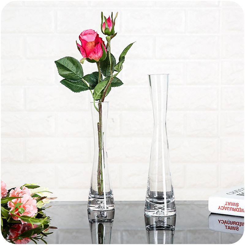 Transparent Glass Flower Vase Home Decoration Vases Filler Terrarium