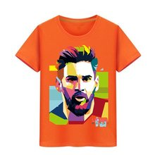45a5a560a Lionel Messi T Shirt Barcelona kids Messi T-shirt boy girl Pure Cotton  Tshirt Top Argentina Jersey For Children Fans Tees