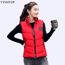 YTNMYOP брендовый пуховый хлопковый жилет для женщин, Зимний короткий жилет, верхняя одежда, куртка без рукавов, пальто для студентов, Осенние хлопковые жилеты