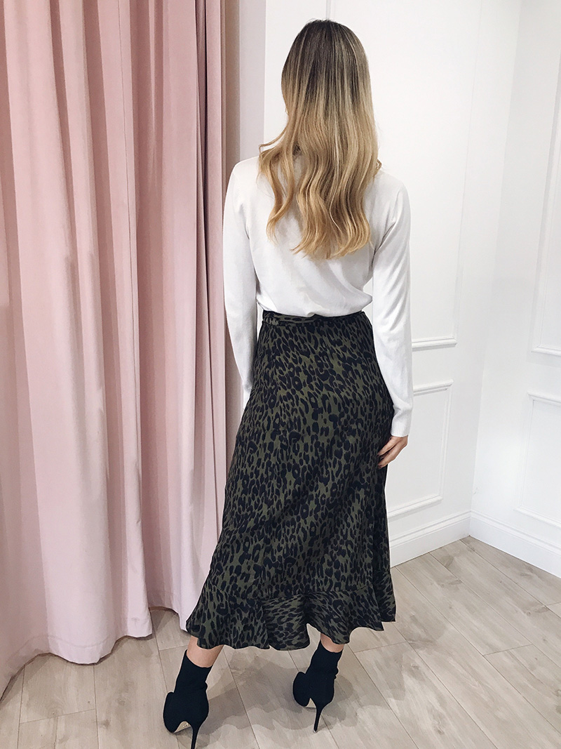 Hot Sale 19 New Slim Fashion Casual Women Leopard Print Boho Wrap Over Aysmmetric Loose Skirt Summer High Waist Midi Skirts 12