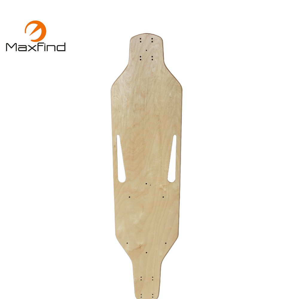 Maxfind longboard skateboard deck Wholesale customized wooden chinese maple blank 38''