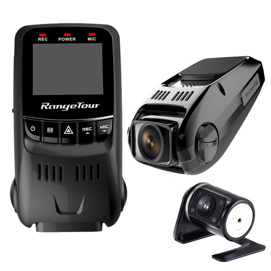 imágenes para Cámara del coche DVR Lente Dual + Cámara de visión Trasera Novatek 96655 B40S Plus Full HD 1080 P de Visión Nocturna Registrador Grabador de Vídeo Digital
