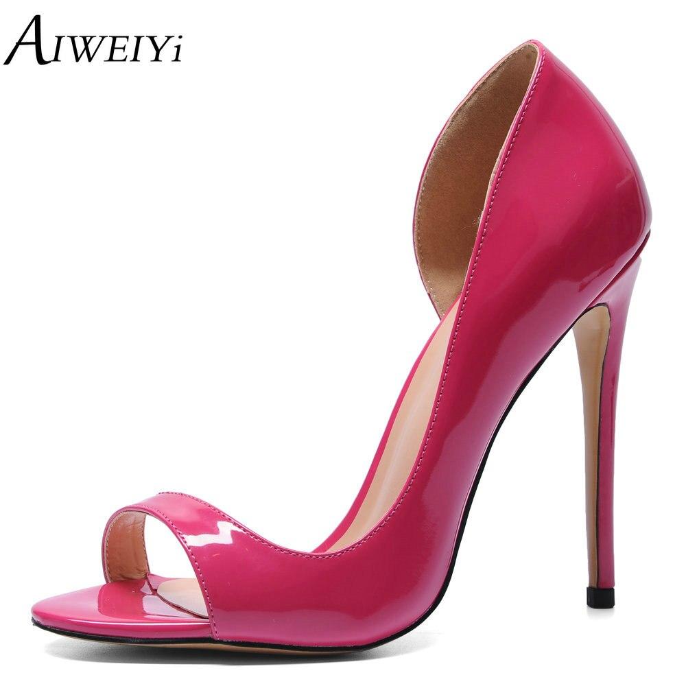 AIWEIYi Women High Heels Sexy Ladies Wedding Shoes Peep Toe Slip On Platform Pump Shoes Fashion Eleagnt Summer Solid Heels цена 2017