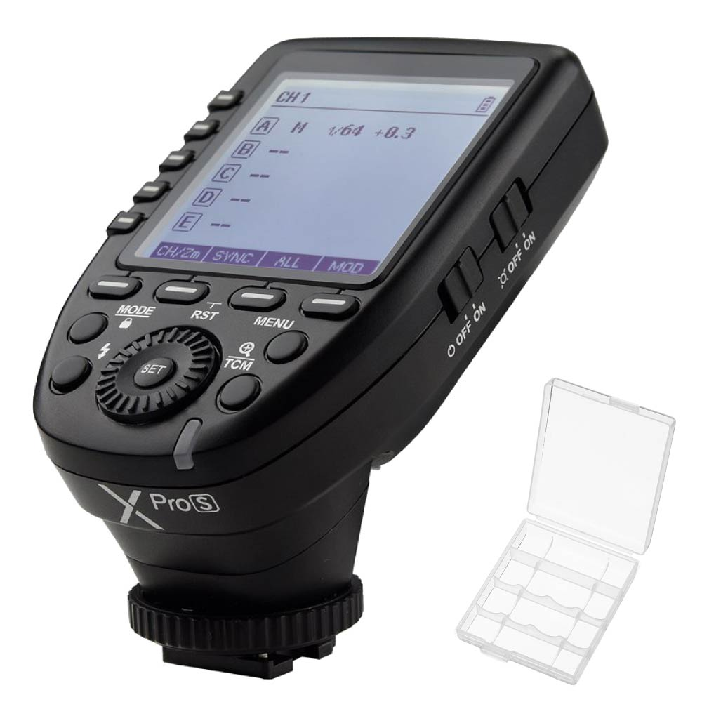 Godox XPro-S 2.4G TTL X System High-speed Wireless High Speed Sync 1/8000s Flash Trigger LCD Screen For Sony Camera