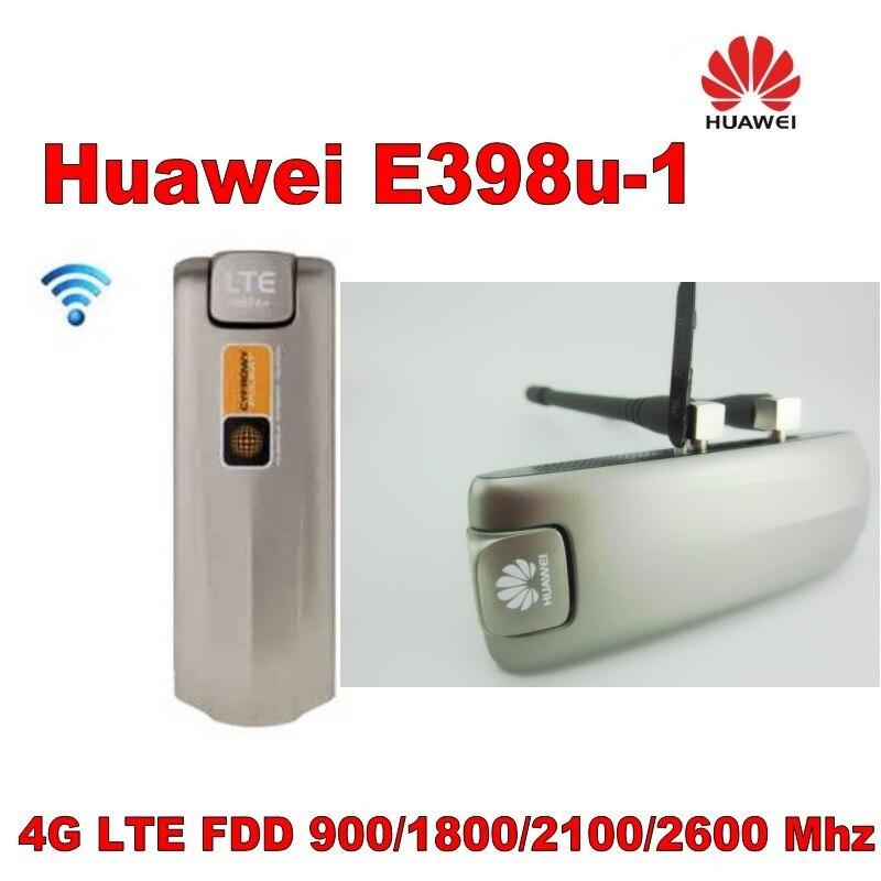 Débloqué HUAWEI E398u-1 modem 4G LTE E398 100 Mbps mobile dongle plus 2 pièces 4g antenne